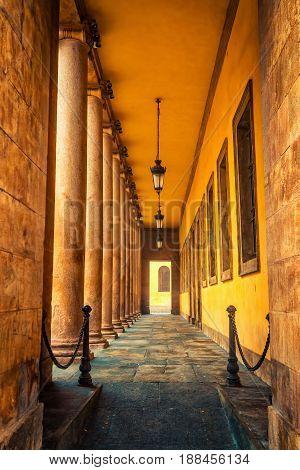 Corridor With Many Columns