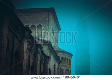 Night Town With Old Architecture
