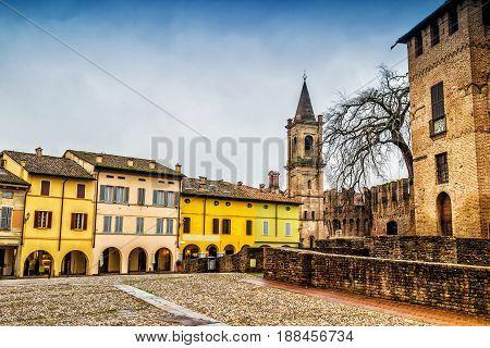 Old Town Of Fontanellato And Medieval Rocca Sanvitale Castle