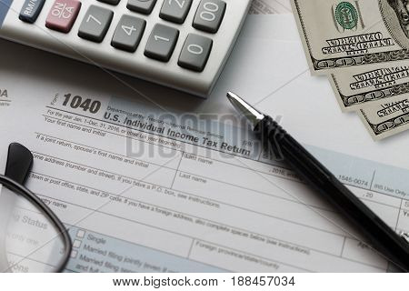 Tax Individual Income Return Financial Accounting Form Time For Taxes Money Taxation