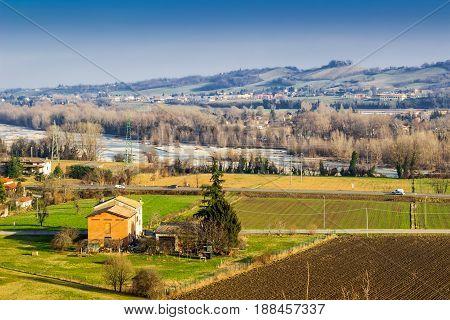 Rural Autumn Landscape In Emilia-romagna