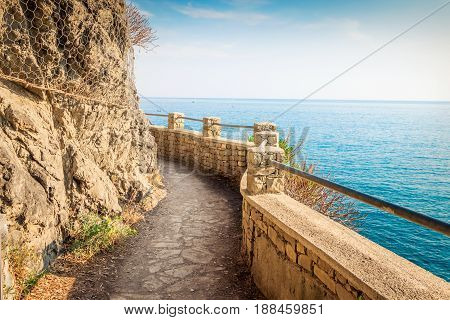 Pathway Along The Sea In Cinque Terre