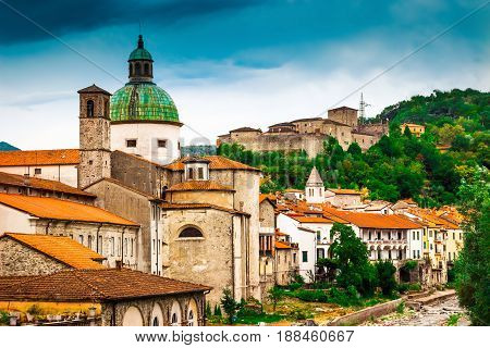 Pontremoli Village, Ligurian Province, Italy