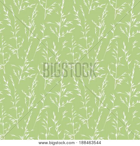 leaves vector seamless abstract hand drawn pattern