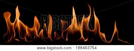 Fire Isolated On A Black Background
