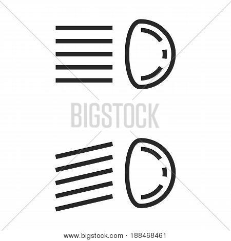 Headlamp Vector Icon