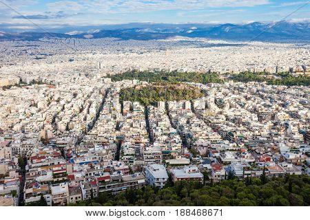 Athens Aerial Panoramic View