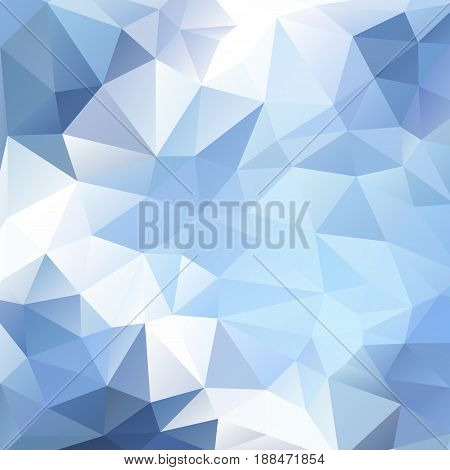 Light blue polygonal background. Triangular geometric pattern. Abstract vector background with triangle shapes. For banner poster card web design. Made using clipping mask