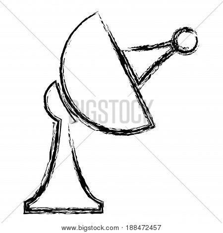 satellite antenna communication broadcast signal image vector illustration