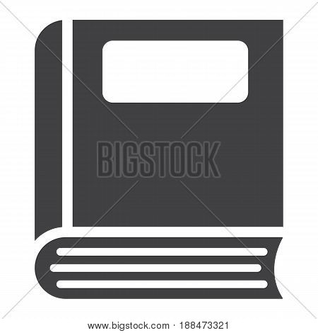 Book solid icon, Education and school, vector graphics, a filled pattern on a white background, eps 10.