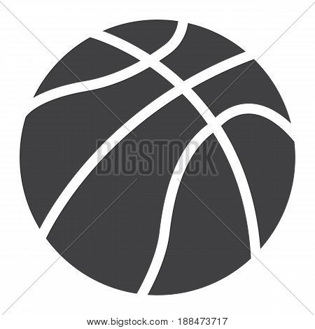 Basketball ball solid icon, sport and game, vector graphics, a filled pattern on a white background, eps 10.