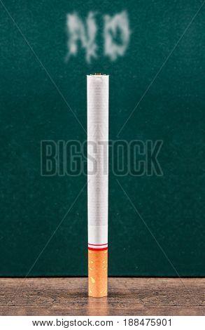 No cigarette on green board. World no tobacco day.