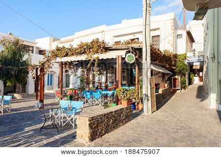 Restaurant In Naxos, Greece