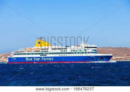 Blue Star Ferry, Greece