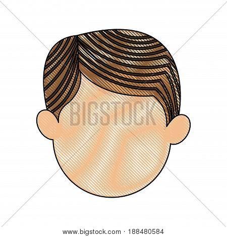 cartoon head man male manger icon vector illustration