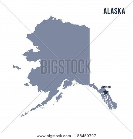 Vector State Of Alaska Isolated On White Background.