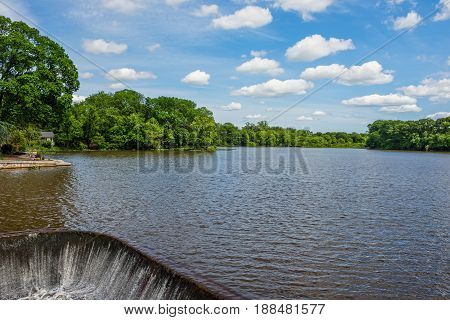 Scenic Conines Mill Pond in historic Allentown New Jersey.