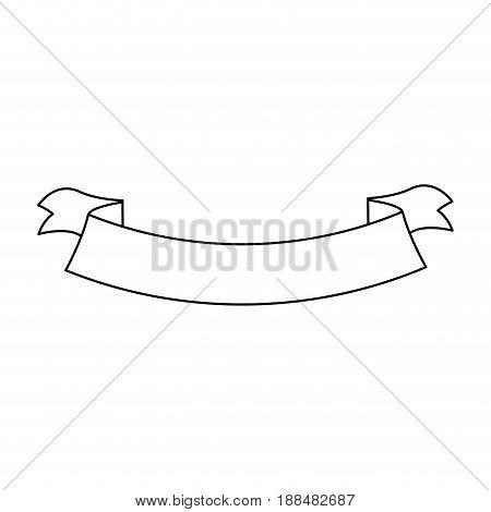 ribbon banner decoration emblem empty vector illustration
