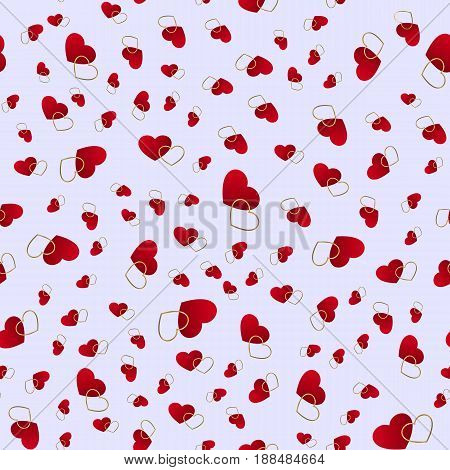 Seamless pattern with hearts. Love background. Hearts background