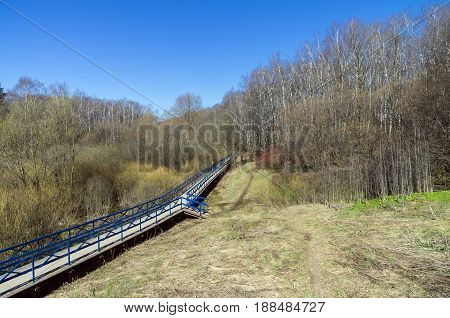 Footbridge Over The Marshy Ravine.