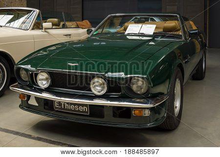 BERLIN GERMANY - MAY 17 2014: Car Aston Martin V8 Volante. 27th Oldtimer Day Berlin - Brandenburg