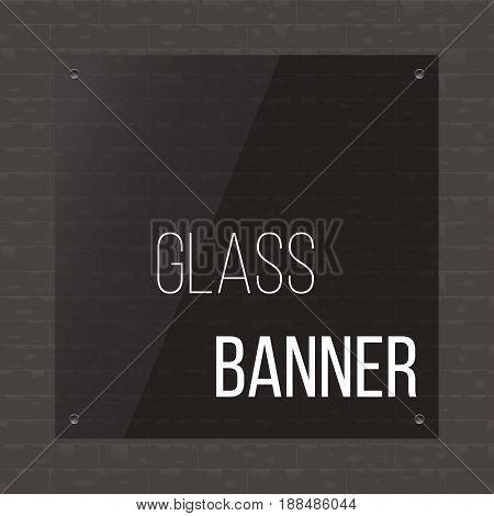 Dark gray banner on techno background. Vector illustration