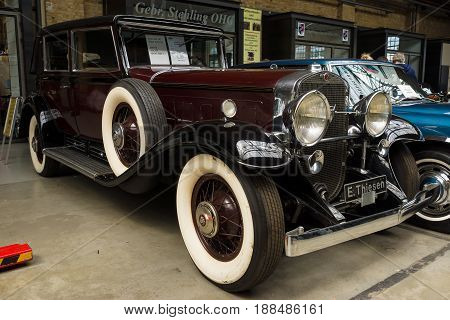 BERLIN GERMANY - MAY 17 2014: Luxury car Cadillac V-16 Landaulet (Cadillac Sixteen). 27th Oldtimer Day Berlin - Brandenburg