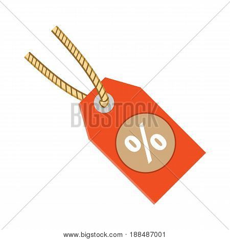 Discount label tag icon vector illustration Flat design style.
