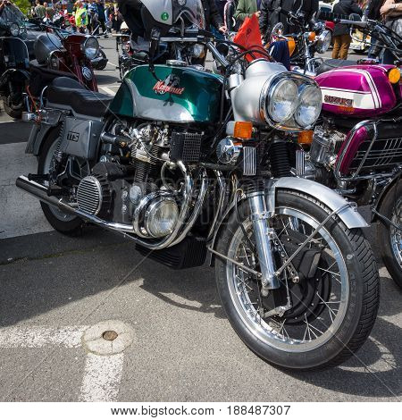 BERLIN GERMANY - MAY 17 2014: Motorcycle 1200 Munch Mammoth TTS. 27th Oldtimer Day Berlin - Brandenburg