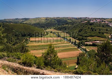 Ericeira Portugal. 19 May 2017.View of agriculture fields near Ericeira Village.Ericeira Portugal. photography by Ricardo Rocha.