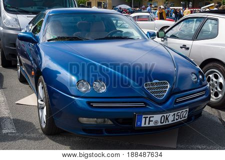 BERLIN GERMANY - MAY 17 2014: Sports coupe Alfa Romeo GTV V6 TB. 27th Oldtimer Day Berlin - Brandenburg