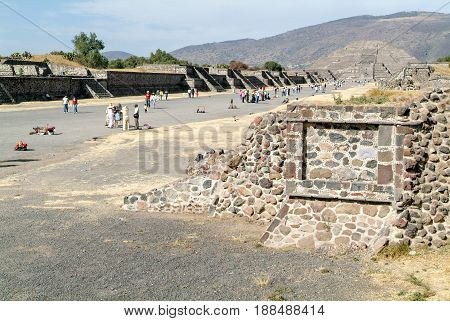 The Moon Pyramid At Teotihuacan En Mexico