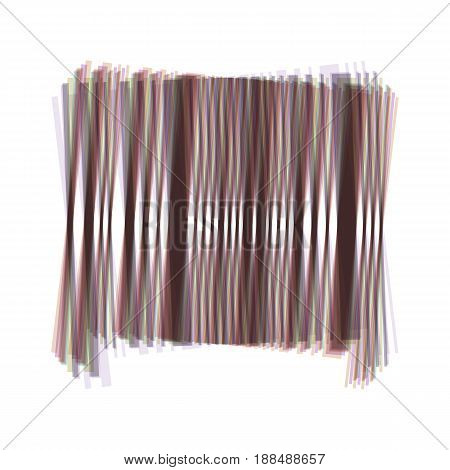 Bar code sign. Vector. Colorful icon shaked with vertical axis at white background. Isolated.