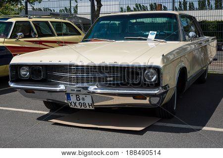 BERLIN GERMANY - MAY 17 2014: A luxury car Chrysler New Yorker (Seventh generation). 27th Oldtimer Day Berlin - Brandenburg