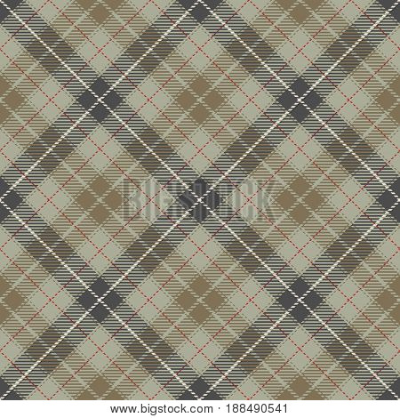 Tartan Seamless Pattern Background. Red Brown Gray Beige and White Plaid Tartan Flannel Shirt Patterns. Trendy Tiles Vector Illustration for Wallpapers.