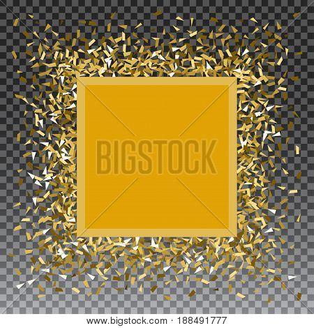 Abstract gold glitter splatter background for the card, invitation, brochure, banner, web design.