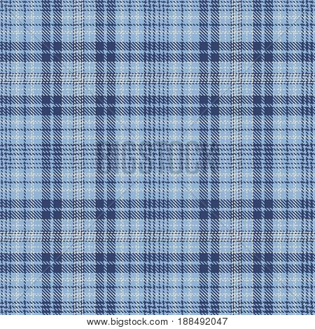 Tartan Seamless Pattern Background. Blue and White Plaid Tartan Flannel Shirt Patterns. Trendy Tiles Vector Illustration for Wallpapers.