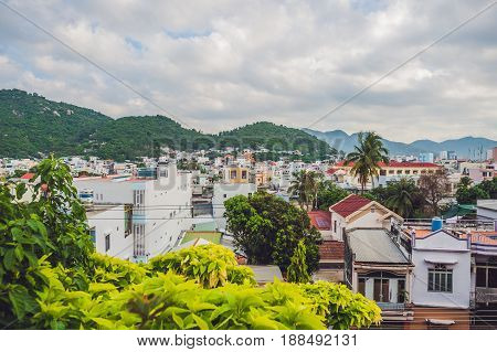 Beautiful View On Nha Trang In Khanh Hoa Province At Afternoon In Vietnam. Is A Popular Tourist Dest