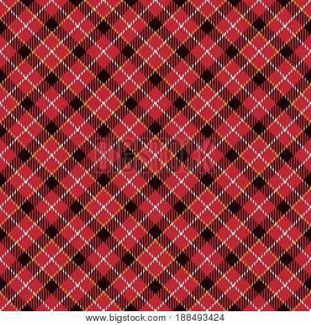 Tartan Seamless Pattern Background. Yellow Red Black and White Plaid Tartan Flannel Shirt Patterns. Trendy Tiles Vector Illustration for Wallpapers.