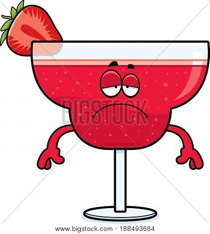 Sad Cartoon Strawberry Daiquiri