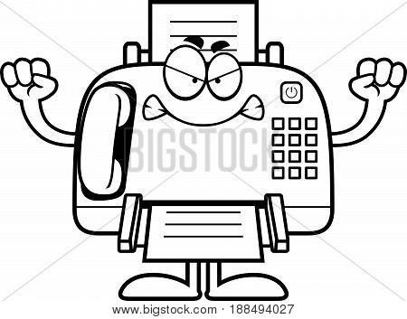 Angry Cartoon Fax Machine