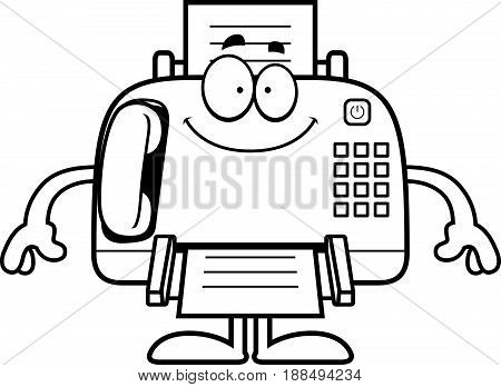 Happy Cartoon Fax Machine