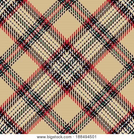 Tartan Seamless Pattern Background. Red Black Blue Beige Green and White Plaid Tartan Flannel Shirt Patterns. Trendy Tiles Vector Illustration for Wallpapers.