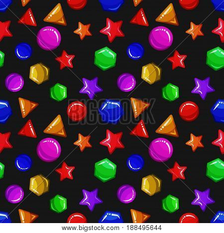 Jelly or caramel geometric figures - seamless background pattern