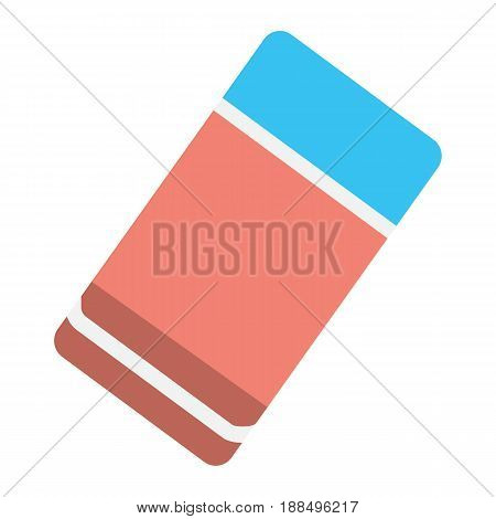 Eraser flat icon, education and school, rubber vector graphics, a colorful solid pattern on a white background, eps 10.