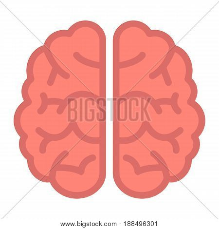 Brain flat icon, brainstorm and idea, medical vector graphics, a colorful solid pattern on a white background, eps 10.