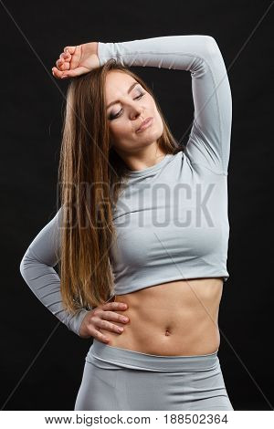 Fit Woman In Thermolinen Underwear,