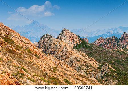 Corse-du-sud Nature. South Region Of Corsica