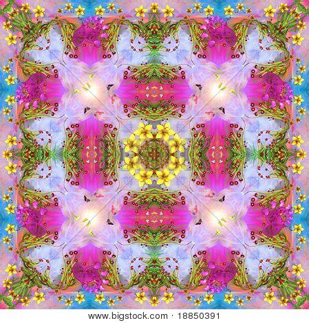 happy mandala in spring colors