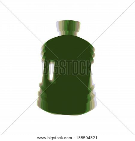 Plastic bottle silhouette sign. Vector. Colorful icon shaked with vertical axis at white background. Isolated.